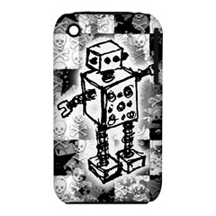 Sketched Robot Apple Iphone 3g/3gs Hardshell Case (pc+silicone)