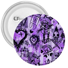 Purple Scene Kid Sketches 3  Button by ArtistRoseanneJones