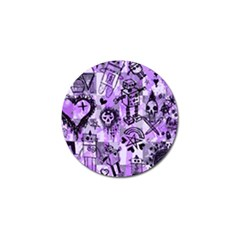 Purple Scene Kid Sketches Golf Ball Marker 10 Pack by ArtistRoseanneJones