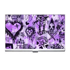 Purple Scene Kid Sketches Business Card Holder by ArtistRoseanneJones