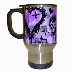 Purple Scene Kid Sketches Travel Mug (white) by ArtistRoseanneJones