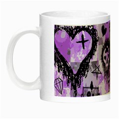 Purple Scene Kid Sketches Glow In The Dark Mug by ArtistRoseanneJones