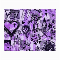 Purple Scene Kid Sketches Glasses Cloth (small) by ArtistRoseanneJones