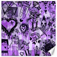 Purple Scene Kid Sketches Canvas 16  X 16  (unframed) by ArtistRoseanneJones