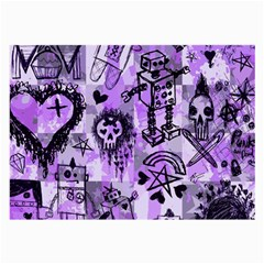 Purple Scene Kid Sketches Glasses Cloth (large, Two Sided) by ArtistRoseanneJones