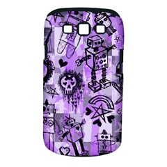 Purple Scene Kid Sketches Samsung Galaxy S Iii Classic Hardshell Case (pc+silicone) by ArtistRoseanneJones