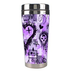 Purple Scene Kid Sketches Stainless Steel Travel Tumbler by ArtistRoseanneJones