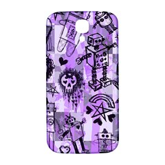 Purple Scene Kid Sketches Samsung Galaxy S4 I9500/i9505  Hardshell Back Case