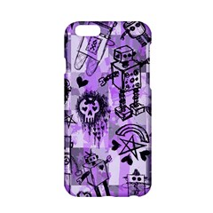 Purple Scene Kid Sketches Apple Iphone 6 Hardshell Case by ArtistRoseanneJones