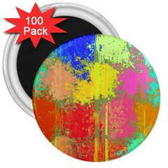 Colorful Paint Spots 3  Magnet (100 Pack) by LalyLauraFLM