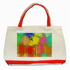 Colorful Paint Spots Classic Tote Bag (red) by LalyLauraFLM