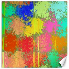 Colorful Paint Spots Canvas 16  X 16  by LalyLauraFLM