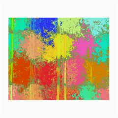 Colorful Paint Spots Small Glasses Cloth (2 Sides) by LalyLauraFLM