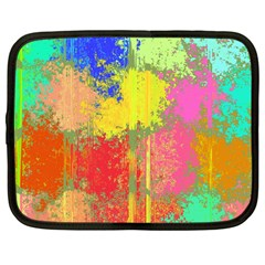 Colorful Paint Spots Netbook Case (large)	 by LalyLauraFLM