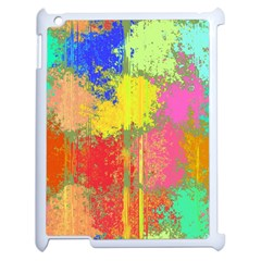 Colorful Paint Spots Apple Ipad 2 Case (white) by LalyLauraFLM
