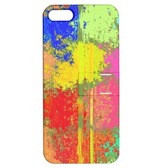 Colorful Paint Spots Apple Iphone 5 Hardshell Case With Stand by LalyLauraFLM