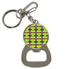 Pink,green,blue Rectangles Pattern Bottle Opener Key Chain