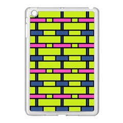 Pink,green,blue Rectangles Pattern Apple Ipad Mini Case (white)