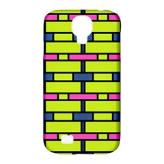 Pink,green,blue Rectangles Pattern Samsung Galaxy S4 Classic Hardshell Case (pc+silicone) by LalyLauraFLM