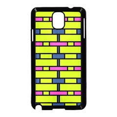 Pink Green Blue Rectangles Pattern Samsung Galaxy Note 3 Neo Hardshell Case by LalyLauraFLM