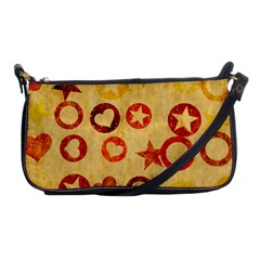 Shapes On Vintage Paper Shoulder Clutch Bag by LalyLauraFLM