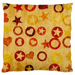 Shapes On Vintage Paper Large Cushion Case (two Sides)