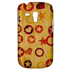 Shapes On Vintage Paper Samsung Galaxy S3 Mini I8190 Hardshell Case by LalyLauraFLM