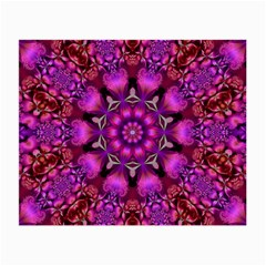 Pink Fractal Kaleidoscope  Glasses Cloth (small)