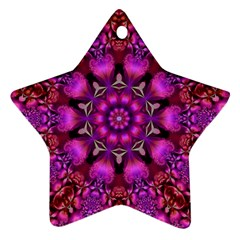 Pink Fractal Kaleidoscope  Star Ornament (two Sides)