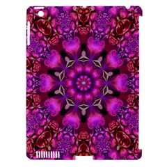 Pink Fractal Kaleidoscope  Apple Ipad 3/4 Hardshell Case (compatible With Smart Cover) by KirstenStar