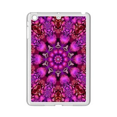 Pink Fractal Kaleidoscope  Apple Ipad Mini 2 Case (white)