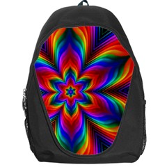 Rainbow Flower Backpack Bag by KirstenStar