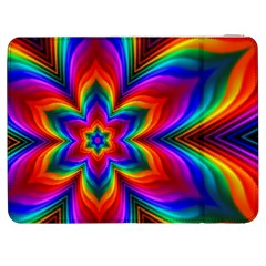 Rainbow Flower Samsung Galaxy Tab 7  P1000 Flip Case by KirstenStar
