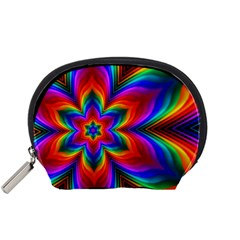 Rainbow Flower Accessory Pouch (small) by KirstenStar