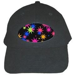 Colorful Stars Pattern Black Cap by LalyLauraFLM