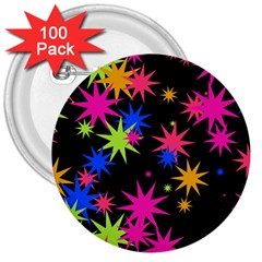 Colorful Stars Pattern 3  Button (100 Pack) by LalyLauraFLM