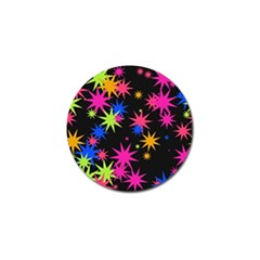 Colorful Stars Pattern Golf Ball Marker