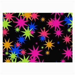 Colorful Stars Pattern Large Glasses Cloth (2 Sides) by LalyLauraFLM