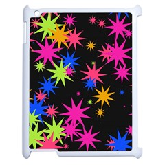 Colorful Stars Pattern Apple Ipad 2 Case (white) by LalyLauraFLM