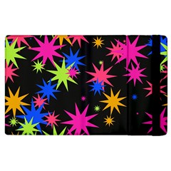 Colorful Stars Pattern Apple Ipad 2 Flip Case by LalyLauraFLM