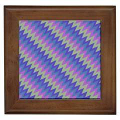 Diagonal Chevron Pattern Framed Tile