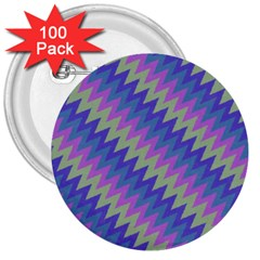 Diagonal Chevron Pattern 3  Button (100 Pack)