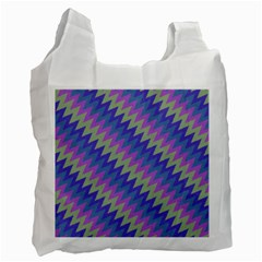 Diagonal Chevron Pattern Recycle Bag (one Side) by LalyLauraFLM
