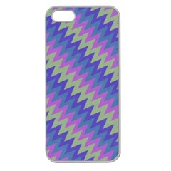 Diagonal Chevron Pattern Apple Seamless Iphone 5 Case (clear) by LalyLauraFLM