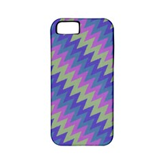 Diagonal Chevron Pattern Apple Iphone 5 Classic Hardshell Case (pc+silicone) by LalyLauraFLM