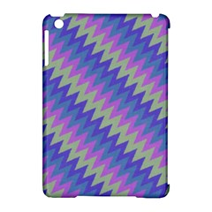 Diagonal Chevron Pattern Apple Ipad Mini Hardshell Case (compatible With Smart Cover) by LalyLauraFLM