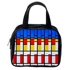 Colorful Rectangles Pattern Classic Handbag (one Side)