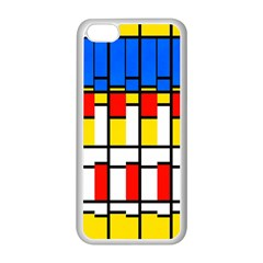 Colorful Rectangles Pattern Apple Iphone 5c Seamless Case (white) by LalyLauraFLM