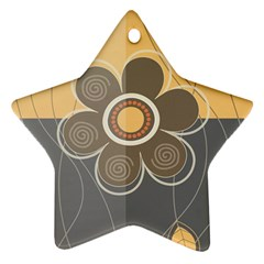 Floral Design Star Ornament (two Sides) by EveStock
