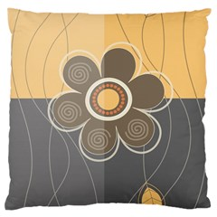 Floral Design Large Cushion Case (single Sided)  by EveStock